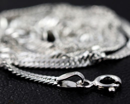 18 Inch, 48 cm 1.4 x2.5   mm Long Twisted Rope  Silver chain . AM 1013