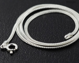 16 Inch, 40 cm 2.0 x .7   mm Flat Snake  Silver chain . AM 1017