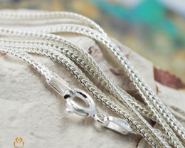 16 Inch, 40 cm 2.0 x .7   mm Flat Snake  Silver chain . AM 1019