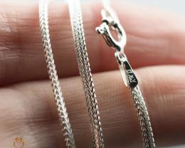 16 Inch, 40 cm 2.0 x .7   mm LFlat Snake  Silver chain . AM 1022