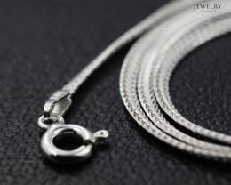 16 Inch, 40 cm 2.0 x .7   mm LFlat Snake  Silver chain . AM 1024