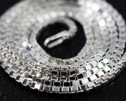 18 Inch, 45 cm 1.2 x 1.2   mm Box  Silver chain . AM 1029