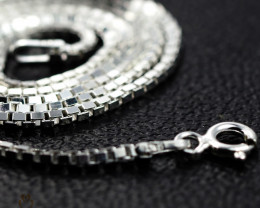 18 Inch, 45 cm 1.2 x 1.2   mm Box  Silver chain . AM 1040