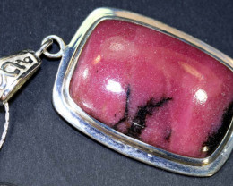 55 CTS RHODONITE SILVER PENDANT  SG-2119