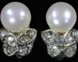9x9 mmFresh water Pearl French clasp  Earring  AM 1044