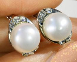 8x8 mmFresh water Pearl French clasp  Earring  AM 1050
