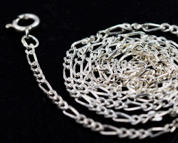 20Inch, 50 cm 1.0 x.92  mm Curb  Silver chain . AM 1052