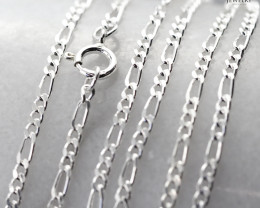 20Inch, 50 cm 1.0 x.92  mm Curb  Silver chain . AM 1053