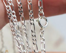 20Inch, 50 cm 1.0 x.92  mm Curb  Silver chain . AM 1054