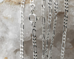 20Inch, 50 cm 1.0 x.92  mm Curb  Silver chain . AM 1060