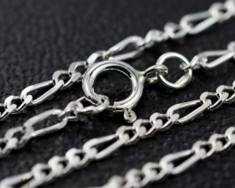 20Inch, 50 cm 1.0 x.92  mm Curb  Silver chain . AM 1063