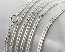 20Inch, 50 cm 2.9 x 1.3  mm  Cable Silver chain . AM 1064