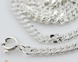 20Inch, 50 cm 2.9 x 1.3  mm  Cable Silver chain . AM 1066