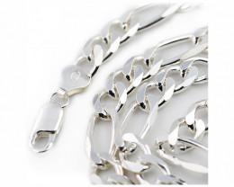 20Inch, 50 cm 7.2 x2.2 mm  Heavy  Curb Silver chain . AM 1067