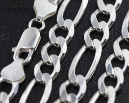 20Inch, 50 cm 7.2 x2.2 mm  Heavy  Curb Silver chain . AM 1069