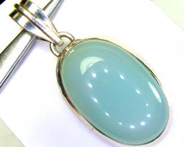 45 CTS CHALCEDONY SILVER PENDANT  SG-2168
