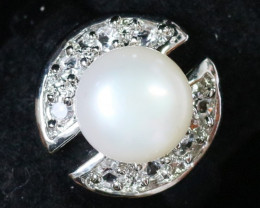 Natural Fresh water pearl Ring Am 1092