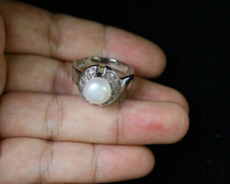 Natural Fresh water pearl Ring Am 1094