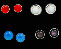 Trade deal 4 pairs Gemstone  Earrings AMB 1098