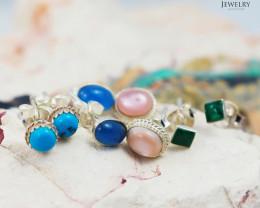 Trade deal 4 pairs Gemstone  Earrings AMB 1100