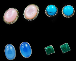 Trade deal 4 pairs Gemstone  Earrings AMB 1102