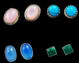 Trade deal 4 pairs Gemstone  Earrings AMB 1102