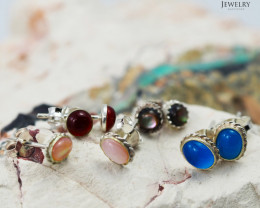 Trade deal 4 pairs Gemstone  Earrings AMB 1104