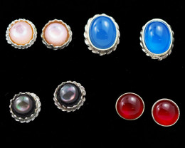 Trade deal 4 pairs Gemstone  Earrings AMB 1107