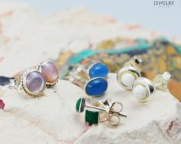Trade deal 4 pairs Gemstone  Earrings AMB 1110