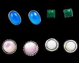 Trade deal 4 pairs Gemstone  Earrings AMB 1112