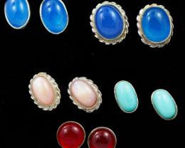 Trade deal 5 pairs Gemstone  Earrings AMB 1113