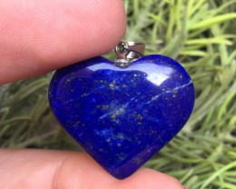 24.40ct Of Natural Heart Shape Lapis Lazuli Pendent