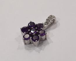 Amethyst 925 Sterling silver pendant #34323