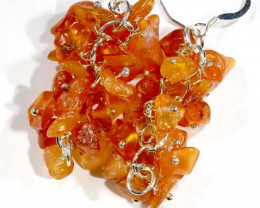 54.75CTS CARNELIAN EARRINGS ORANGE UNTREATED SG-2333