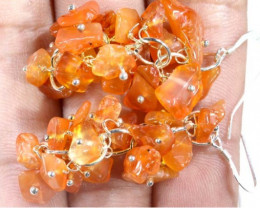 54.75CTS CARNELIAN EARRINGS ORANGE UNTREATED SG-2335