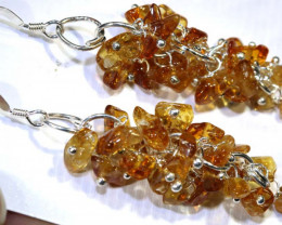 25.70 CTS CITRINE EARRINGS GRAPE DESIGN SG-2341