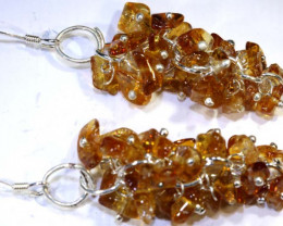 25.70 CTS CITRINE EARRINGS GRAPE DESIGN SG-2342