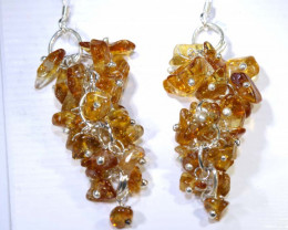25.70 CTS CITRINE EARRINGS GRAPE DESIGN SG-2345