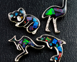 Set 4 Australian Animal  Opal Fridge Magnets  AM  1121