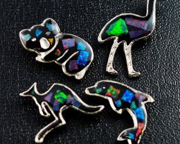 Set 4 Australian Animal  Opal Fridge Magnets  AM  1126
