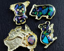 Set 4 Australian Animal  Opal Fridge Magnets  AM  1131
