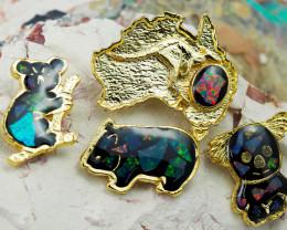 Set 4 Australian Animal  Opal Fridge Magnets  AM  1133