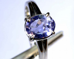 12.85 CTS TANZANITE 18K WHITE GOLD RING SG-2373