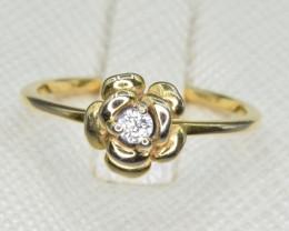 Natural Diamond 9k Gold Ring