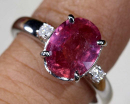 18.4 CTS RUBY 18K WHITE GOLD RING SG-2377