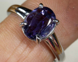 12.5 CTS TANZANITE 18K WHITE GOLD RING SG-2382