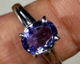 12.8 CTS TANZANITE 18K WHITE GOLD RING SG-2383
