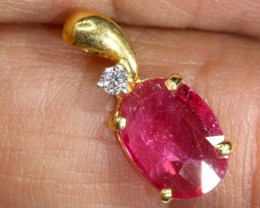 3.7 CTS 18K GOLD RUBY PENDANT SG-2399