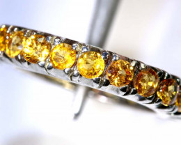 20.15 CTS CITRINE SILVER RING SG-2458