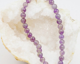 Cute 6x 6 mm bead  Amethyst  Bracelet  Am 1128